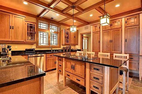 craftsman style kitchen cabinets craftsman kitchen minnesota hooked on houses 6251