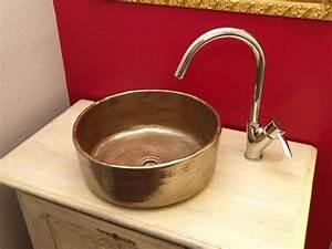 Bemalte Keramik Waschbecken : badezimmer wohn ideen rund waschbecken designer vintage waschbecken ~ Markanthonyermac.com Haus und Dekorationen