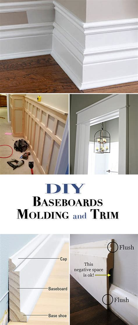 diy baseboards molding  trim  budget decorator