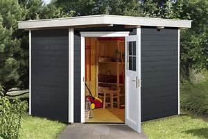 Gartenhaus 3 X 3 M : weka ger tehaus 19mm gartenhaus 229 gr 2 anthrazit 270x270cm bei ~ Whattoseeinmadrid.com Haus und Dekorationen