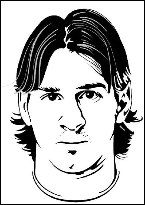 Kleurplaat Barcelona Messi by Lionel Messi Mask Soccer Coloring And Drawing Pages