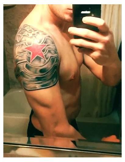 Tattoo Winter Tattoos Soldier Barnes America Captain