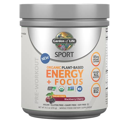 Garden Of Products by Sport Organic Plant Based Energy Focus Garden Of