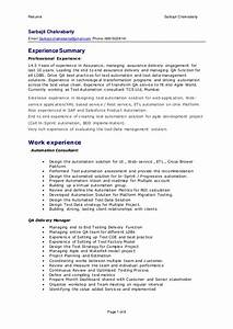 sarbajit resume delivery manager qa test automation With automation resume