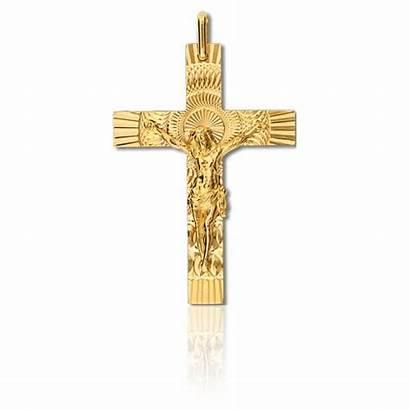 Croix Christ Jaune Lucor Lucas Mm Oro