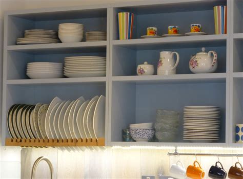 Open Shelf Bookcases by Grey And Pippy Oak Bespoke Kitchen By Peter Henderson
