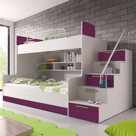 hochbett 2 kinder doppelstockbett etagenbett hochglanz hochbett kinderbett bettkasten jugendbett ebay