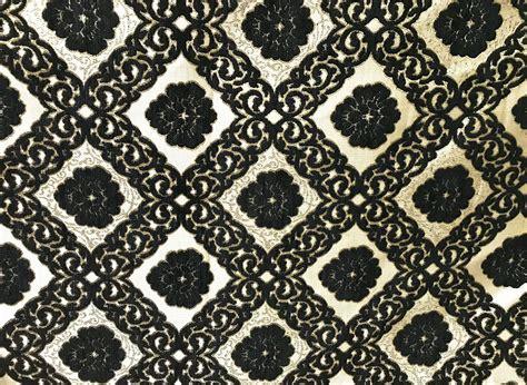 marokkanischer stoff schwarzgold saharashop