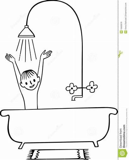 Shower Boy Taking Bath Clipart Acquazzone Dell