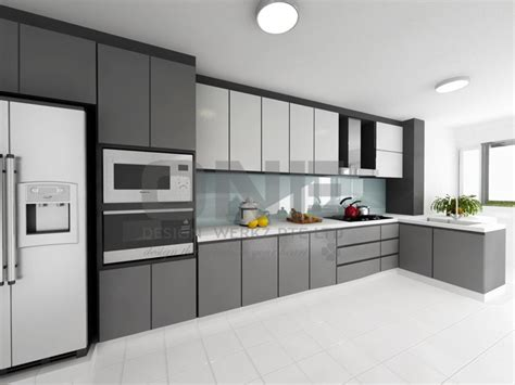 white kitchen cabinets with black island hdb kitchen