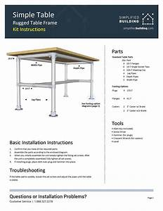 Instructions For Adjustable Height Table Frame