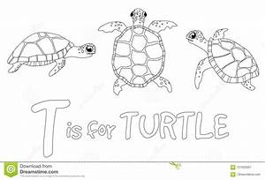 coloring page for children turtle stock illustration With exercise timers