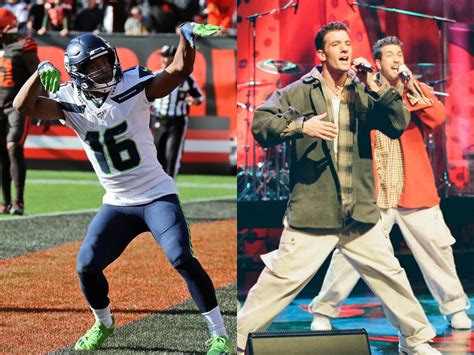 seattle seahawks celebrated  touchdown  nsyncs