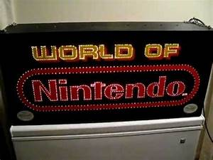 World of Nintendo fiber optic sign