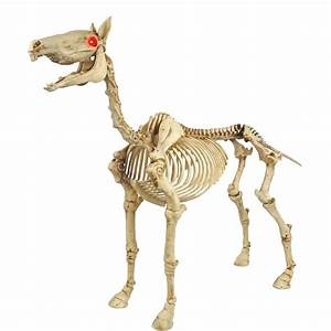 Home Accents Holiday 52 in Standing Skeleton Pony with