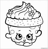 Cupcake Pages Shopkins Coloring sketch template