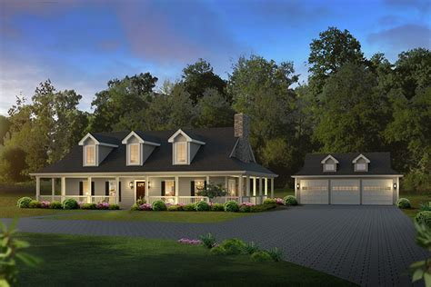 country ranch  loft ha architectural designs house plans