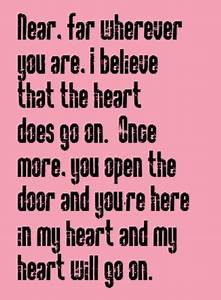 Celine Dion - M... Heart Lyrics Quotes