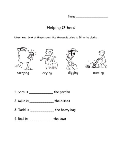16 best images of verbs and helping verbs worksheet