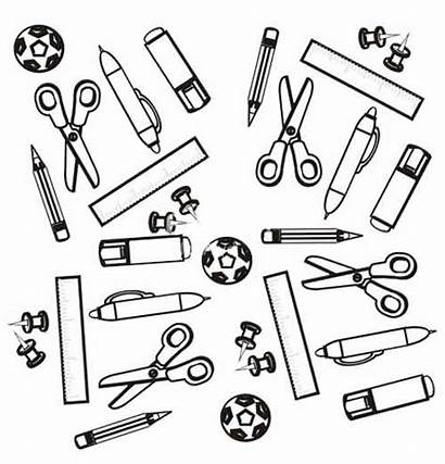 Supplies Coloring Pages Footballs Printable Adults
