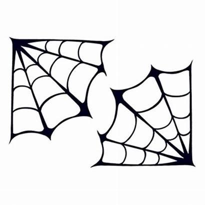 Spider Tattoo Webs Corner Temporary Clipart Dead