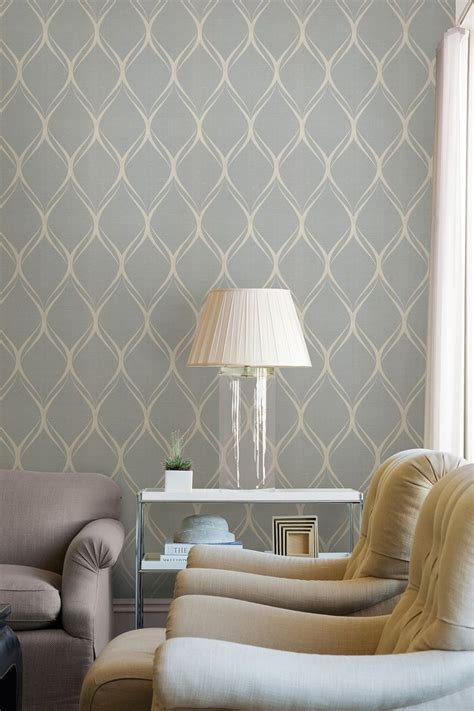 gustav grey geometric wallpaper living rooms home