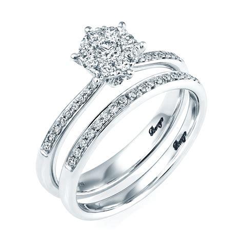 ct white gold diamond bridal set rings  berrys