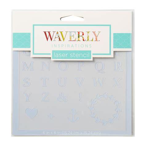 waverly 174 inspirations laser stencils accent alpha basic 6 quot x 6 quot 10624e plaid