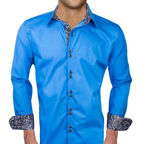 mens designer dress shirts blue with black dress shirts
