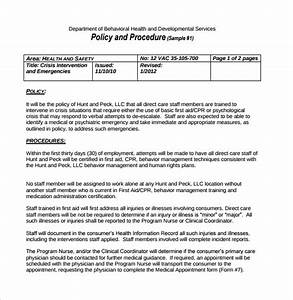 Policy and procedure template 10 download documents in pdf for It policy and procedures template