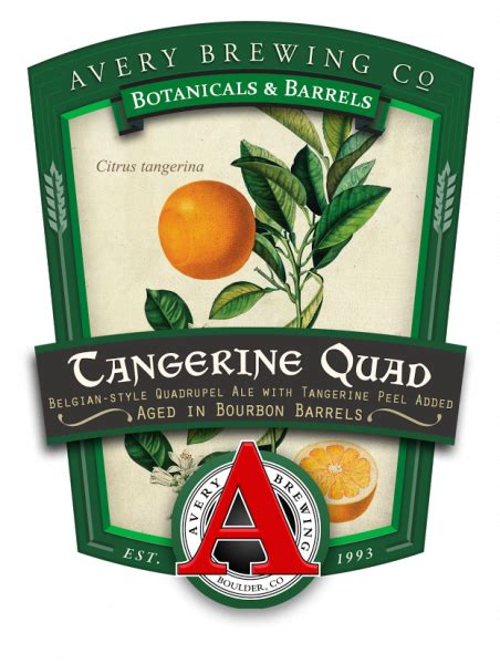 Beer Quad Avery Brewing Releases Barrel Aged Tangerine Quad