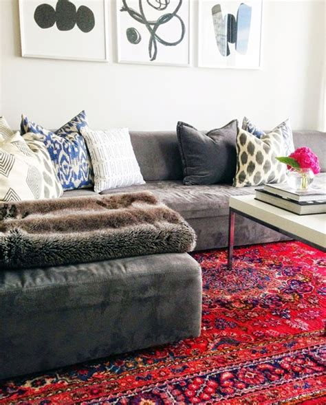 Red Kitchen Decor Ideas - decorating with oriental persian rugs emily a clark