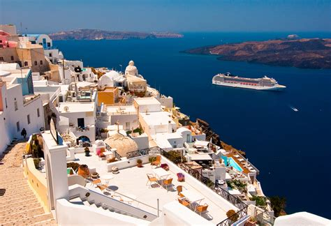 Santorini Beautiful Island Of Greece World