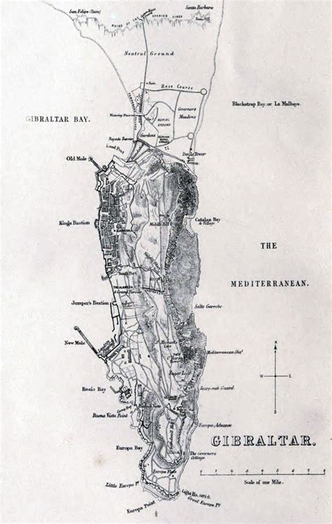 large detailed  map  gibraltar  relief