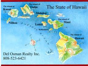Hawaii State Island Map
