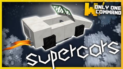 minecraft supercars    command blocks  command youtube