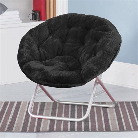 mainstays faux fur saucer chair aqua mainstays faux fur saucer chair black furniturendecor
