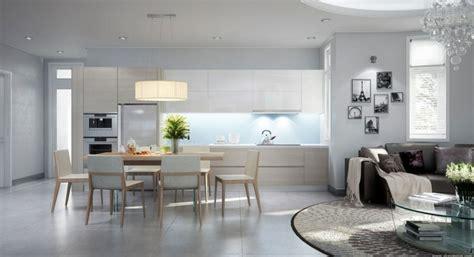 deco salon cuisine décoration salon et cuisine ouverte