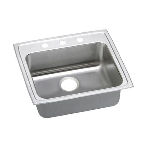 elkay stainless steel kitchen sinks elkay lustertone drop in stainless steel 25 in 3 8866