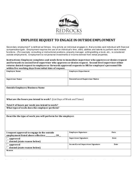 employment form templates