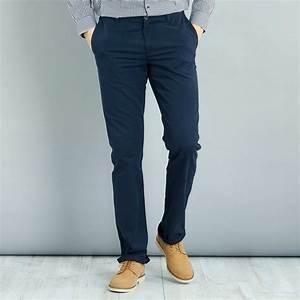 Pantalon Bleu Marine Homme : pantalon chino regular l38 1m90 homme bleu marine ~ Melissatoandfro.com Idées de Décoration