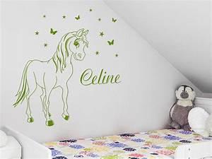 Wandtattoo Name Kind : wandtattoo s es pony mit wunschname bei ~ Indierocktalk.com Haus und Dekorationen