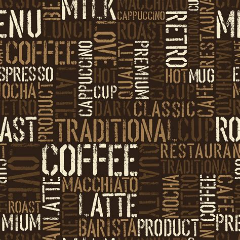 Coffee Designs Wallpapers by Brown Coffee Text Wallpaper Wall Decor