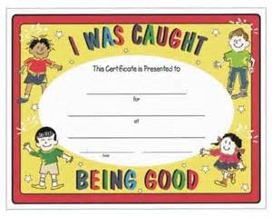 Caught Being Good Certificates