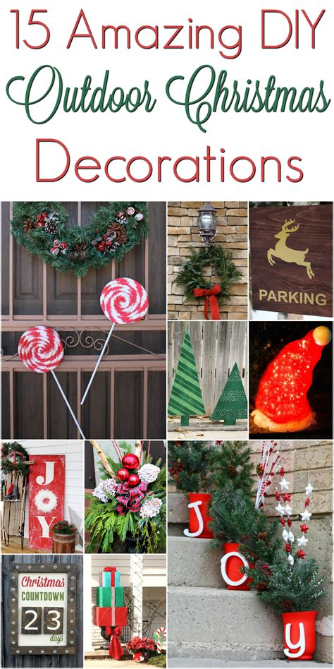 diy outdoor decorations christmasdecorations mrs kathy king