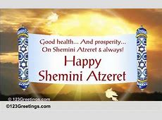 Moadim L'simcha! Free Shemini Atzeret eCards, Greeting