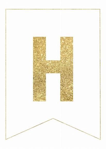 Banner Letter Gold Alphabet Letters Printable Paper