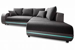 Sofa Mit Led Beleuchtung Und Sound : ecksofa xl trentino mit led und sound anthrazit sofas zum halben preis ~ Bigdaddyawards.com Haus und Dekorationen