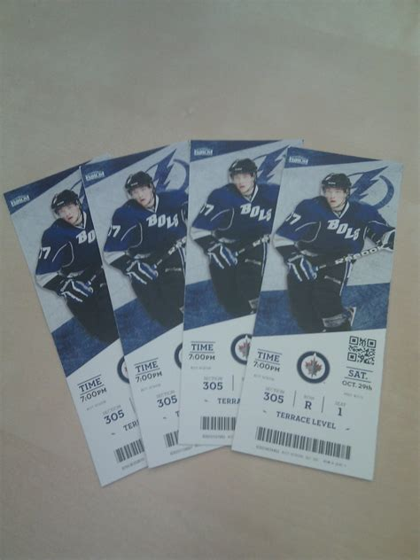 foto de GIVEAWAY: 4 Tampa Bay Lightning Tickets for Saturday