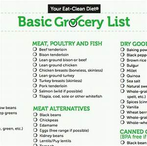 Basic Grocery List | Yumm!!! | Pinterest